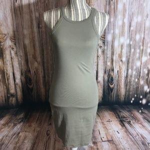 Forever 21 Olive BodyCon sleeveless dress SZ LG